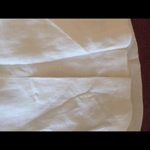 Other Beautiful white lined linen short skirt photo four