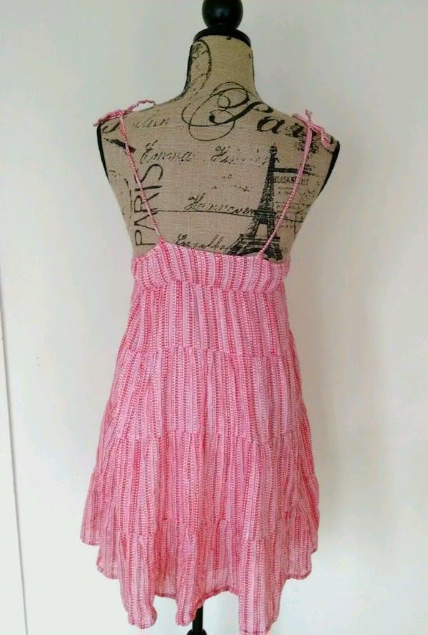 Old Navy  Old Navy Red Hearts Layered Boho Peasant Maxi Sundress Dress Sz XL photo four