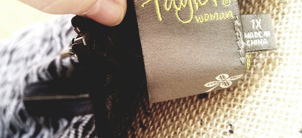 Other Taylor Gray Black Geometric Print Colorblock Sweater Dress A-Line Plus Size 1X photo four