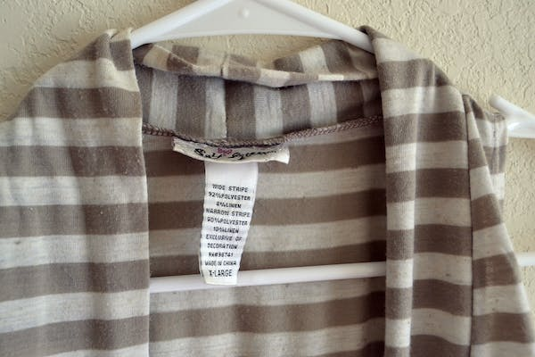 Other Tan & White Striped Vest with Lace Detail photo four