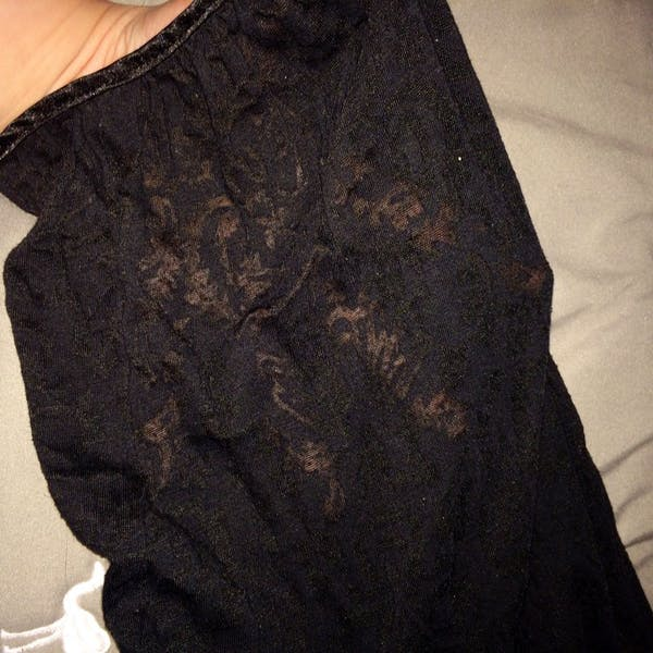 Just My Size Lace Sleeved Top w/ Bow Accent photo four