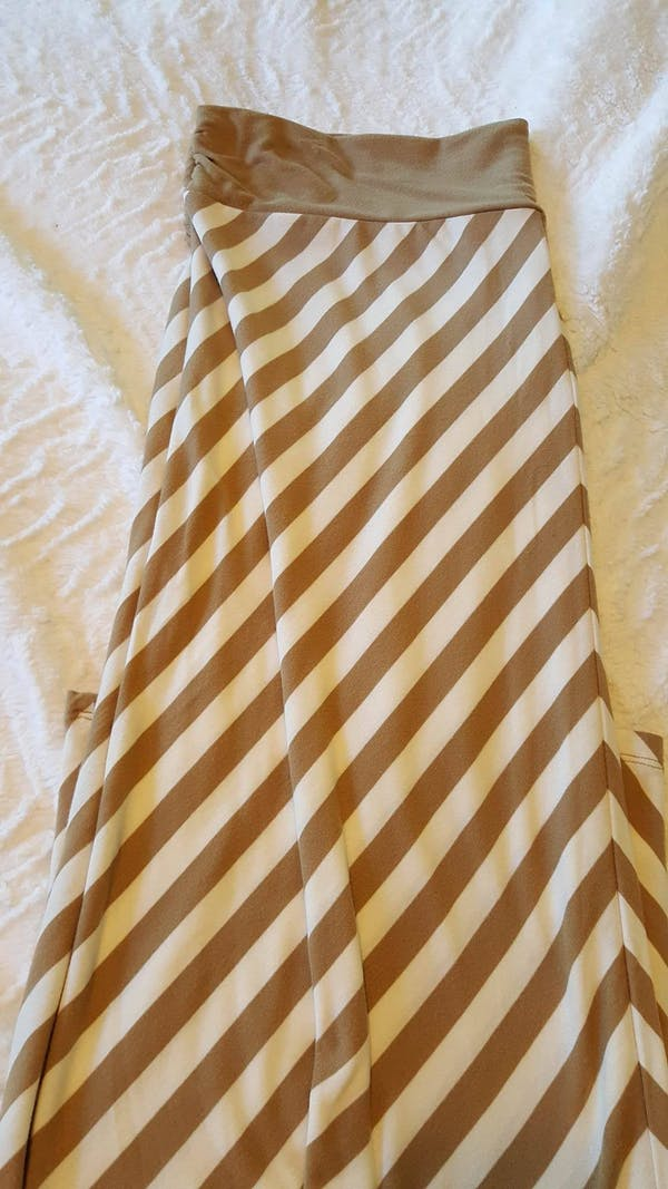 Faded Glory Striped Maxi Skirt photo three