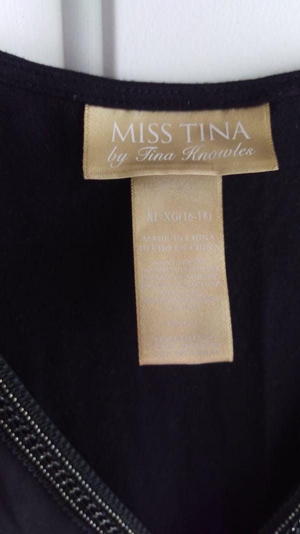 Other Black dress top with jewel design photo three