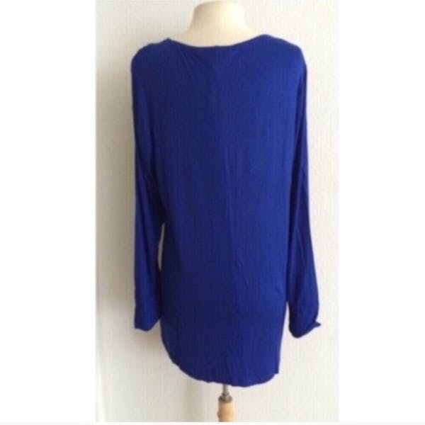 Other Blue lace up tunic photo three