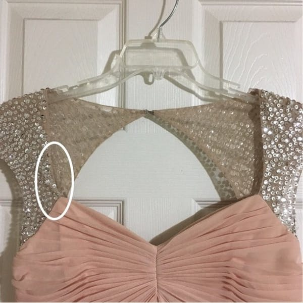 Adrianna Papell NWT Blush Sequin Beaded Gown photo three