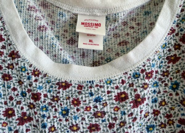 Mossimo Supply Co White Floral Thermal photo three
