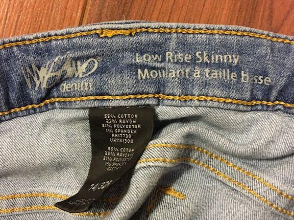 Mossimo Supply Co Light wash skinny jeans  photo three