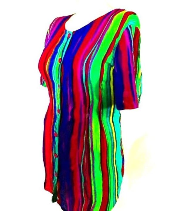Other Colorful Button Down Tunic Top : M 14W 16W photo three