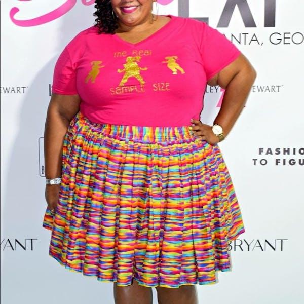 Other Customized rainbow striped skater skirt photo three