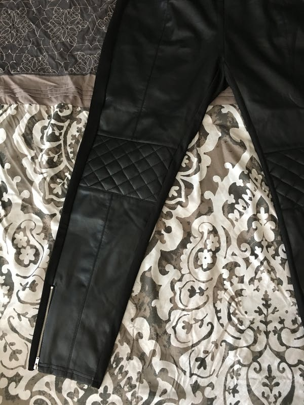Forever 21+ Cute black leather tights  photo three