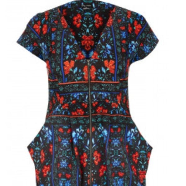 City Chic Zip up tunic dress with pocket NWT photo two