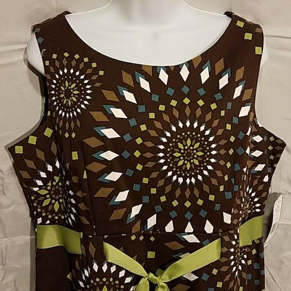 Other Jessica Howard diamond geometric print sleeveless dress photo two