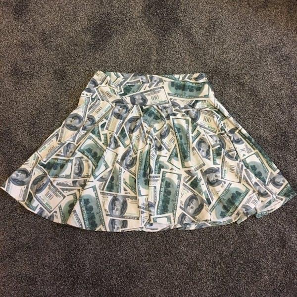 Other Money print skater skirt photo two
