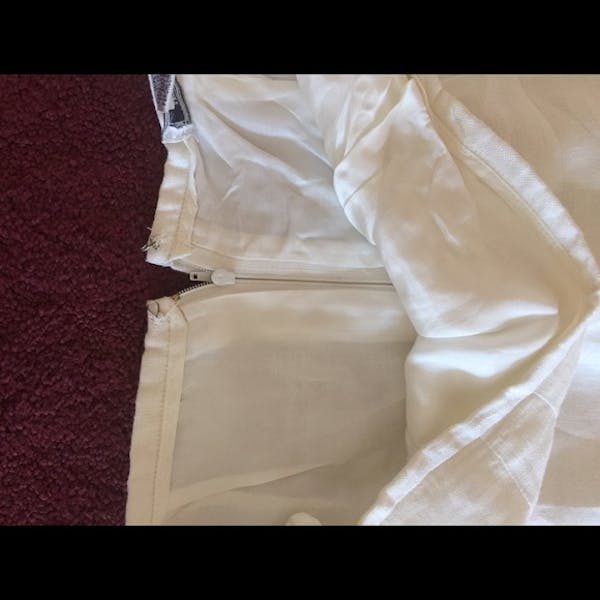 Other Beautiful white lined linen short skirt photo two