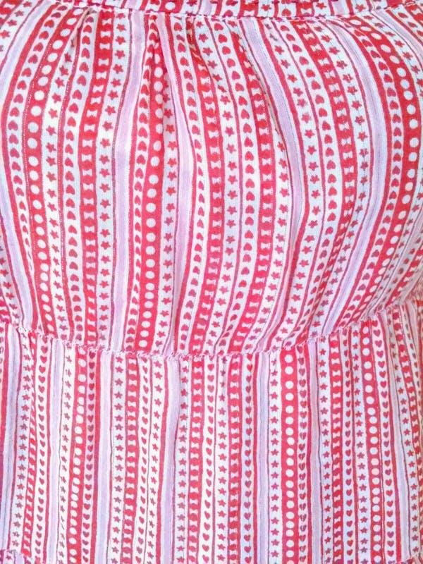 Old Navy  Old Navy Red Hearts Layered Boho Peasant Maxi Sundress Dress Sz XL photo two