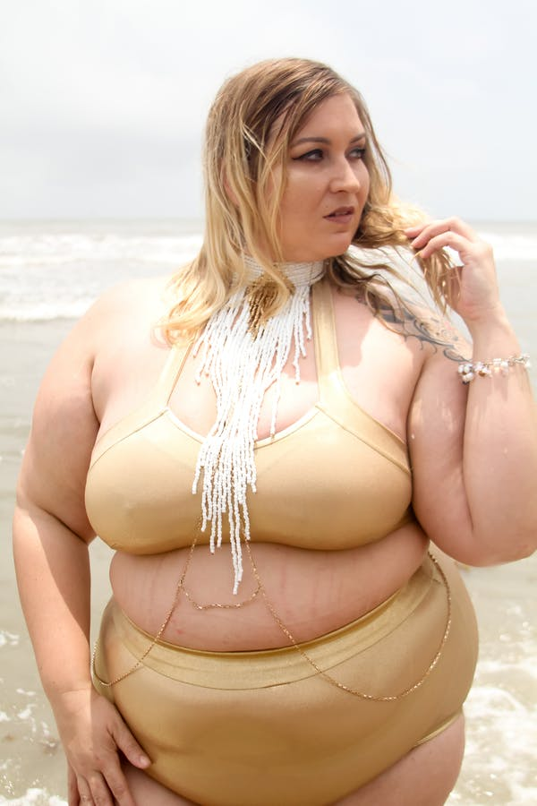 Other Beautiful Gold Two Piece Swimsuit photo two