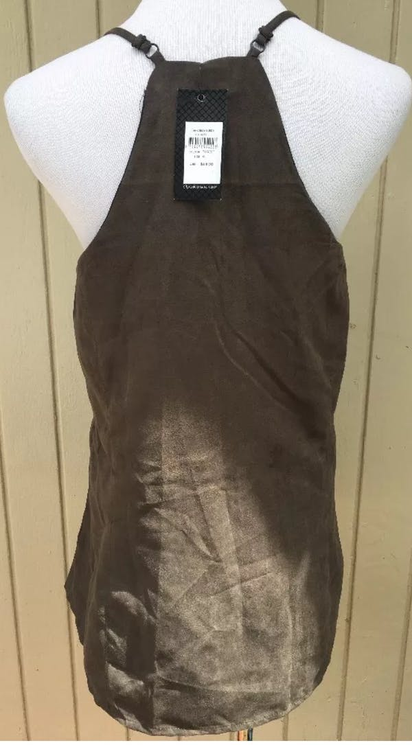 City Chic City Chic Sueded Brown Boho Tank photo two