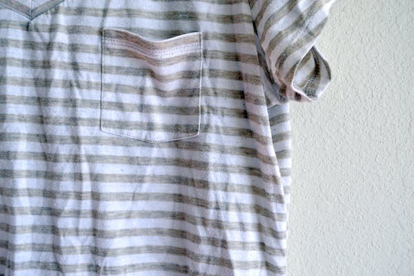 Other Tan & White Striped V-neck photo two