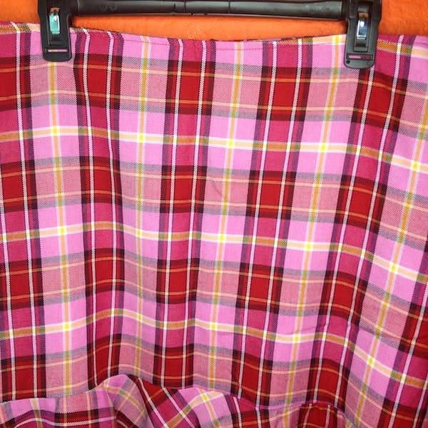Other Pink Plaid 90s ruffled skirt size 20 photo two