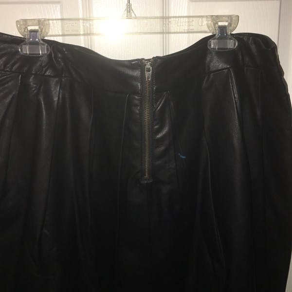 Forever 21+ Faux Leather Skater Skirt photo two