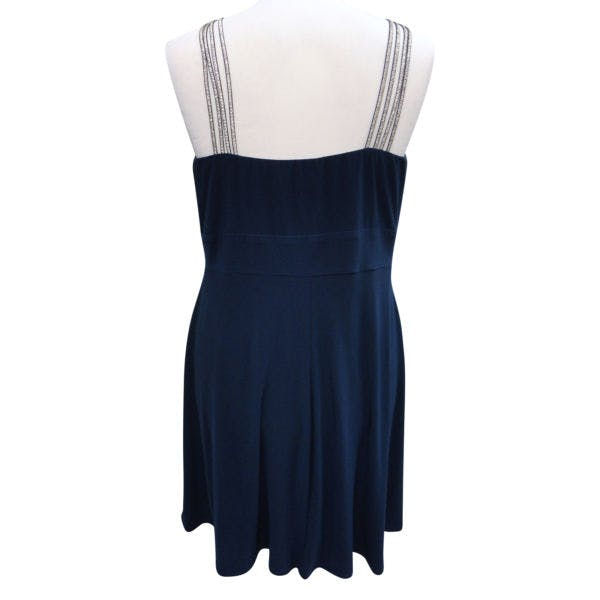 Other New Bisou Bisou Michele Bohbot 18WPlus Blue Keyhole Strappy Sleeveless Dress photo two
