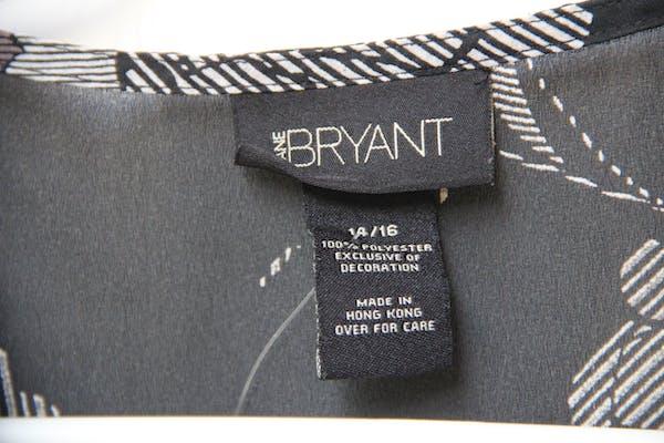 Lane Bryant Floral Black Wrap Top photo two