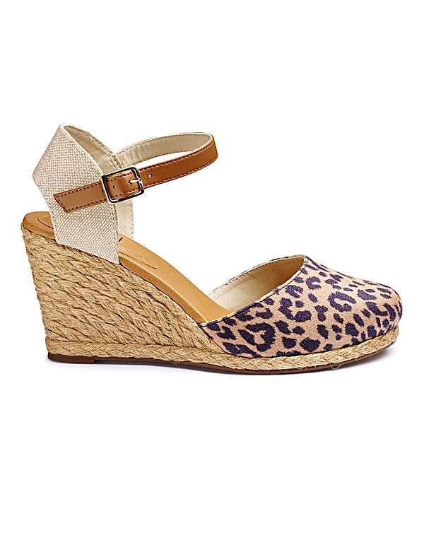 Other  Sole Diva Leopard Print Espadrille Wedge photo two