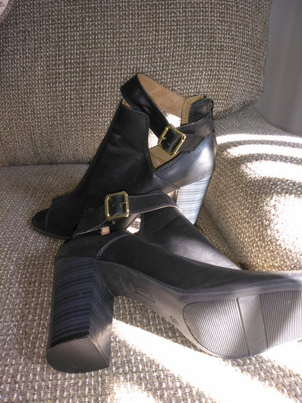 Other Peep Toe Black Bootie (SIZE 11) photo two