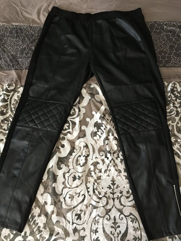Forever 21+ Cute black leather tights  photo two