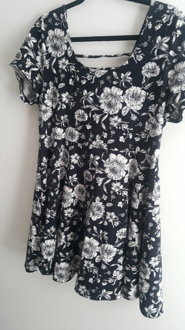 Forever 21+ Sexy Back Floral Dress photo two