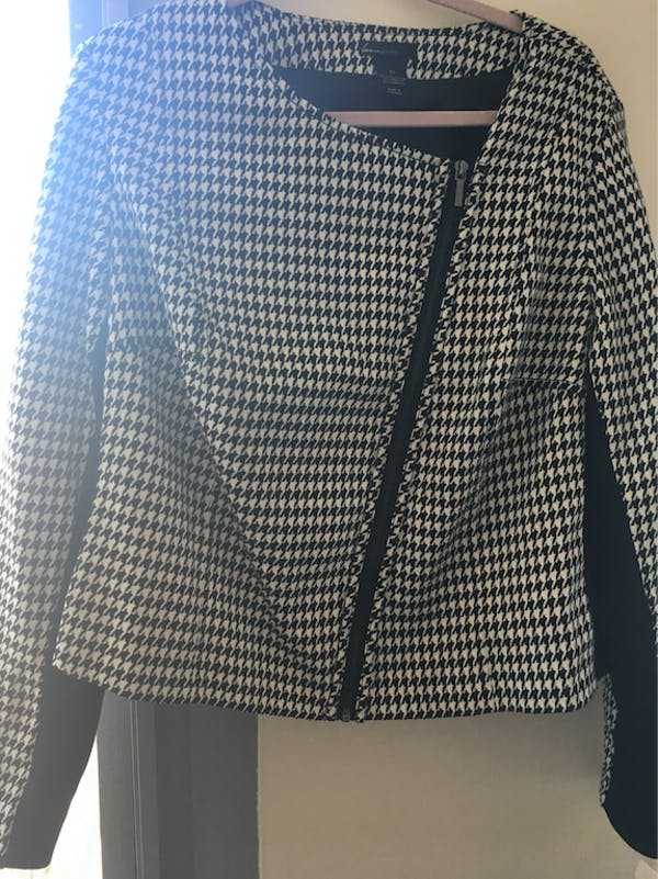 Lane Bryant Houndstooth Motoblazer  photo two