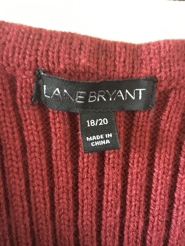 Lane Bryant Cute long sleeve red dress photo two
