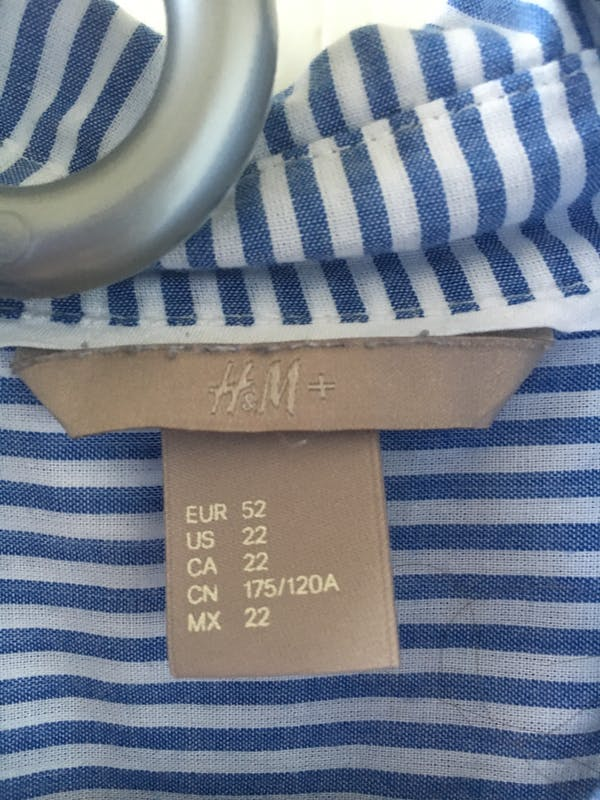 H&M+ Stripped shirt photo two