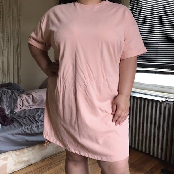 ASOS Pink T-Shirt dress