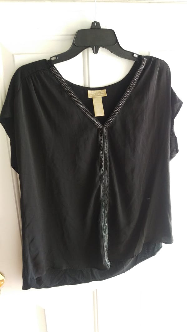 Other Black dress top with jewel design