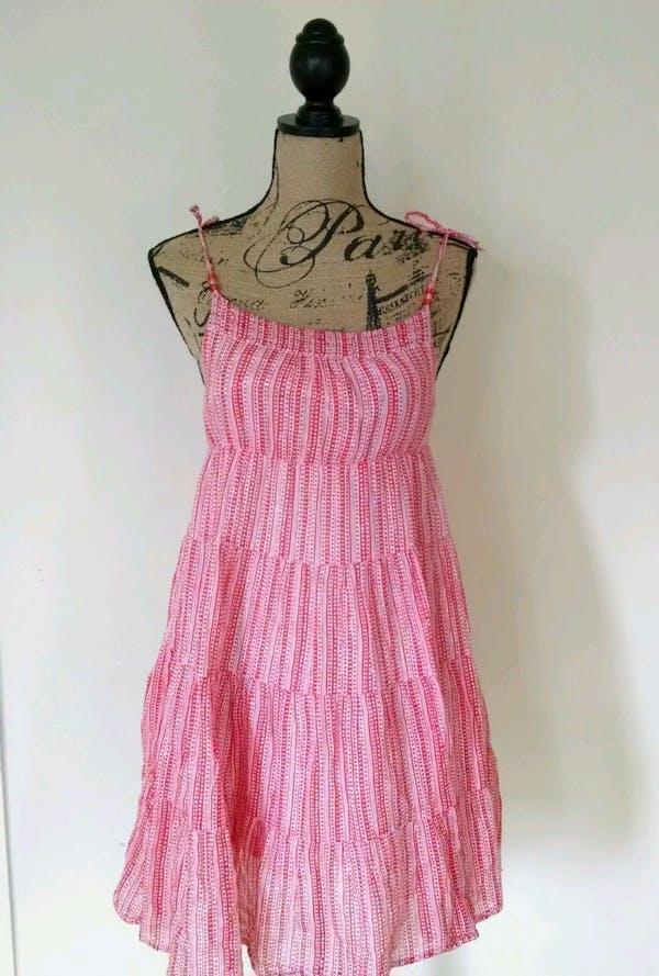 Old Navy  Old Navy Red Hearts Layered Boho Peasant Maxi Sundress Dress Sz XL