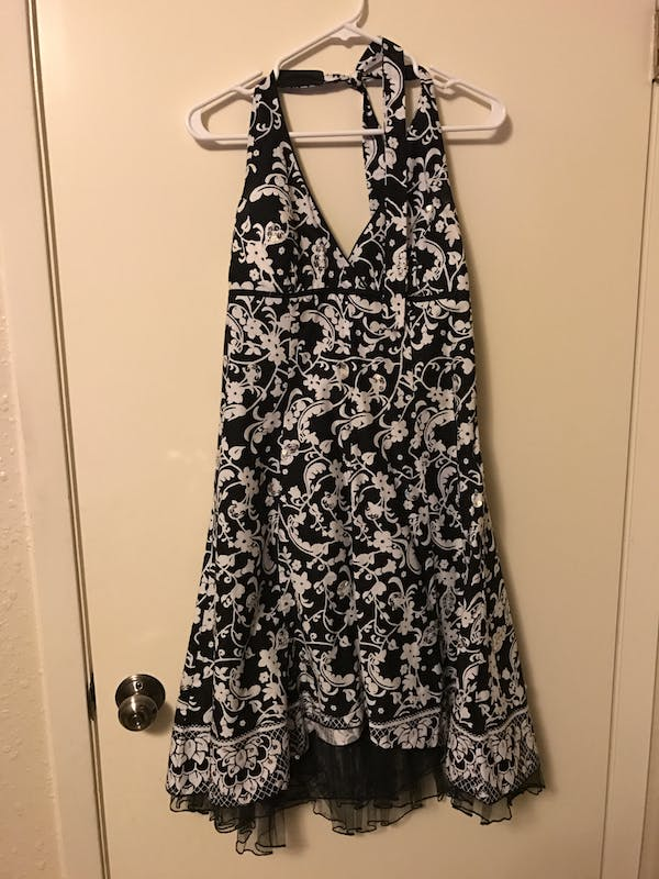 Other Black and white halter dress with tule