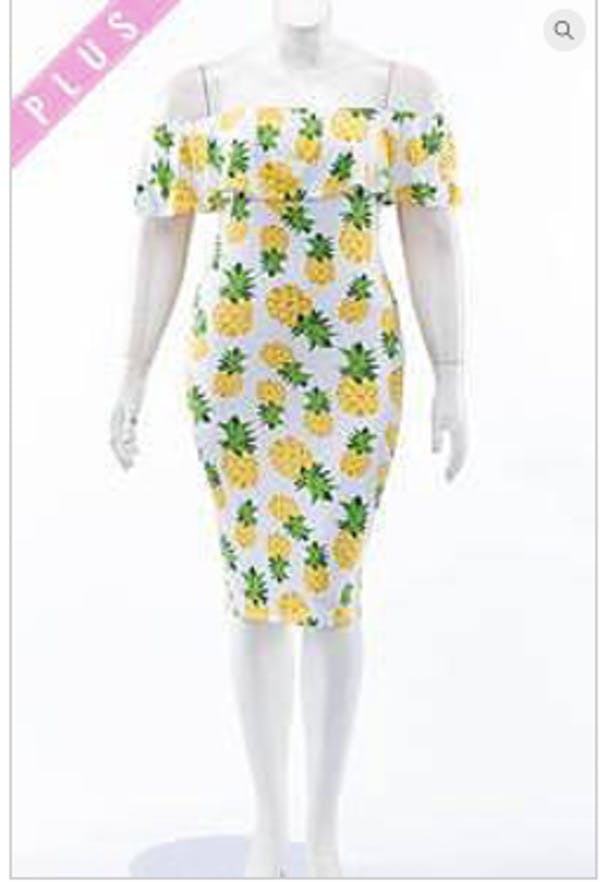Other NEW Off the shoulder Pineapple Dress