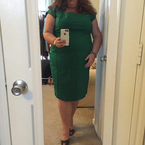Eloquii Gorgeous kelly green sheath dress