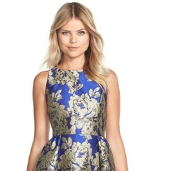 Adrianna Papell Adrianna Papell Cobalt Cocktail Dress