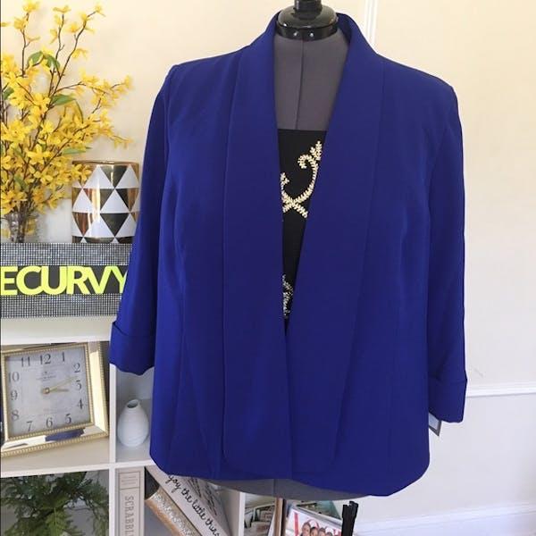 Other Kasper Cobalt Blue Blazer Jacket