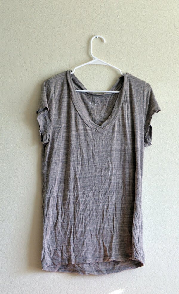 Other Tan V-neck T-shirt
