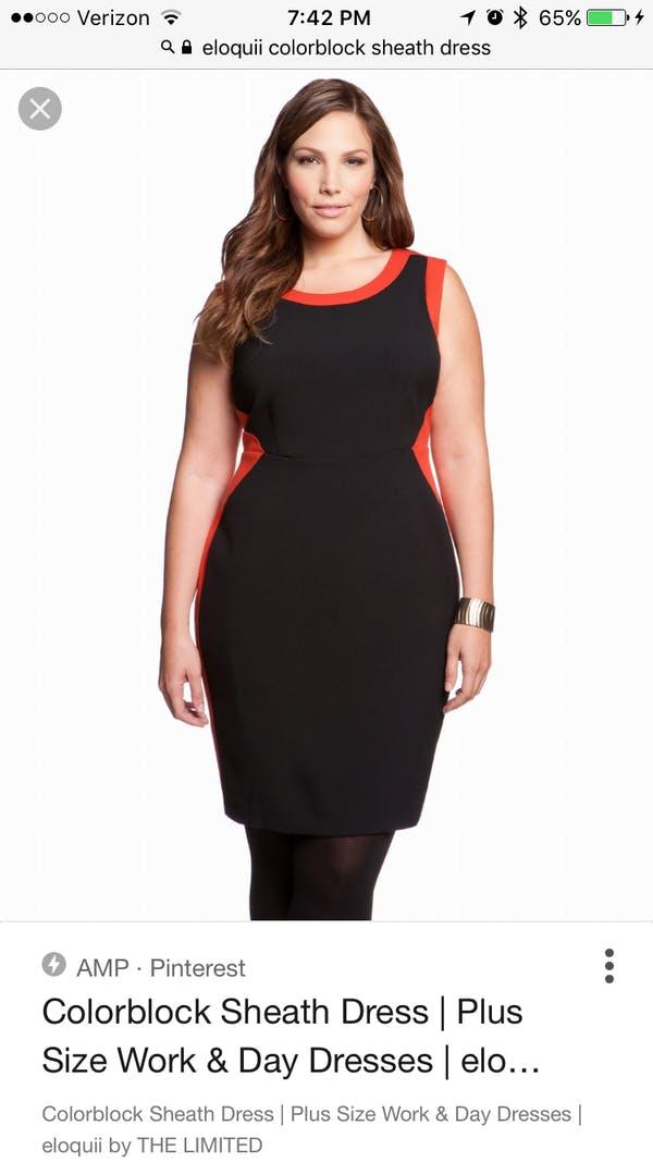 Eloquii Eloquii Colorblock Sheath Dress