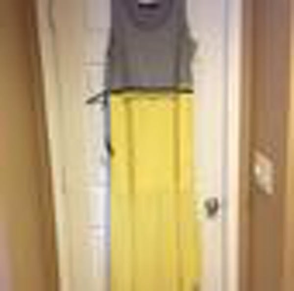 Eloquii Eloquii Grey And Yellow Chiffon Pleated Maxi Dress