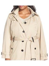 Michael Kors MICHAEL Michael Kors Single Breasted Rain/Trench Coat