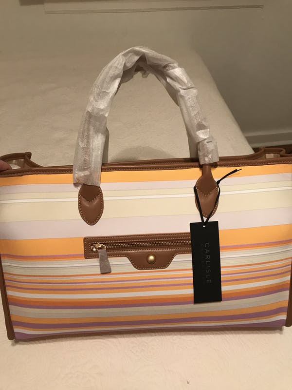 Other Carlisle (New York) multicolor striped tote bag (brand new with wrapping)