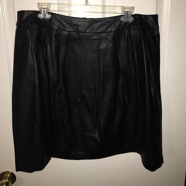 Forever 21+ Faux Leather Skater Skirt