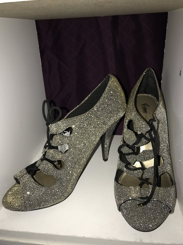 Other Size 12  - never worn - Sparkly lace up shoes