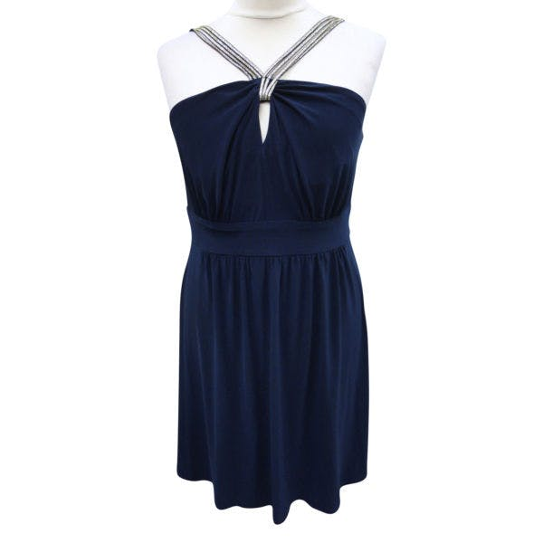 Other New Bisou Bisou Michele Bohbot 18WPlus Blue Keyhole Strappy Sleeveless Dress