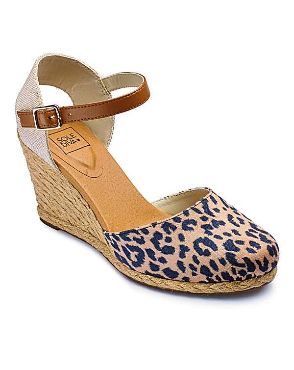 Other  Sole Diva Leopard Print Espadrille Wedge